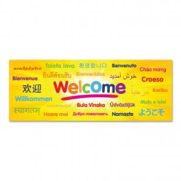 Welcome Languages Wall Graphic