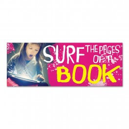 Surf The Pages Of A Book Wall Graphic