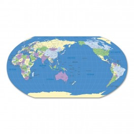 World Map Wall Graphic (Robertson's Projection)