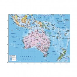 Australia & Oceania Large Wall Graphic Mural (Removable)