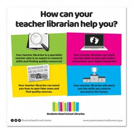 Students Need School Libraries Wall Graphic Sticker
