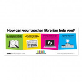 Students Need School Libraries Wall Graphic (White)