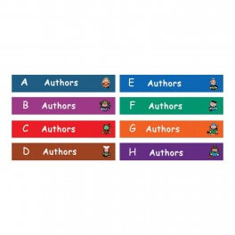 Fiction Shelf Label Set
