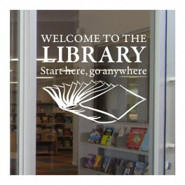 Library Welcome Vinyl Lettering