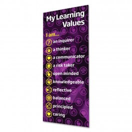 My Learning Values Banner Poster