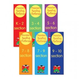 Premier's Reading Challenge Shelf Dividers