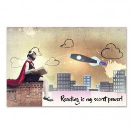 Reading is My Secret Power Wall Mural