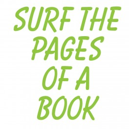 Surf The Pages Vinyl Lettering (Large)