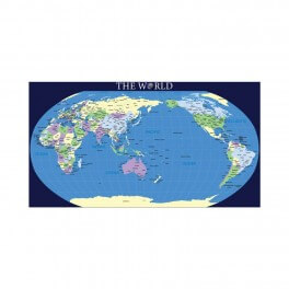 World Map (New) Wall Mural