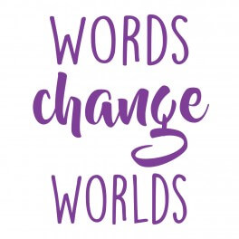 Words Change Worlds Vinyl Lettering