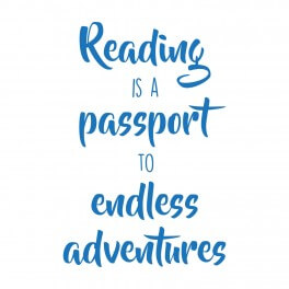 Reading Is A Passport Word Wall Vinyl Lettering