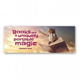 Books Are A Uniquely Portable Magic Wall Graphic