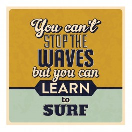 Learn To Surf Wall Graphic Sticker
