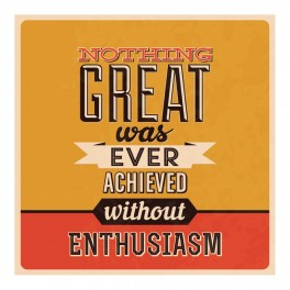 Enthusiasm Wall Graphic Sticker