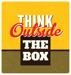 Think Outside The Box Wall Graphic Sticker