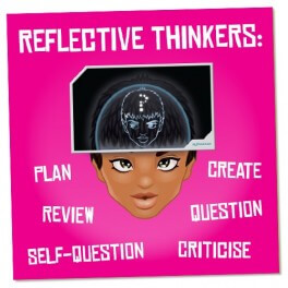 Reflective Thinkers Wall Graphic Sticker