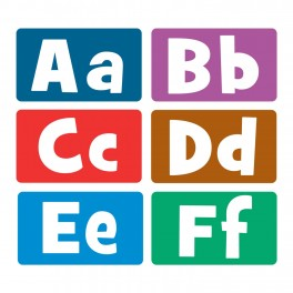 Printed Book Bin Alphabet Stickers