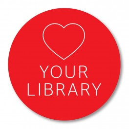 Love your library Printed Vinyl Sticker (Circle)