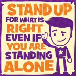 Stand Up Wall Graphic Sticker