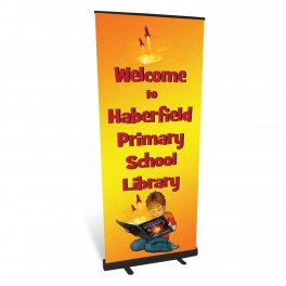Welcome to the Library Banner (Custom Wording)