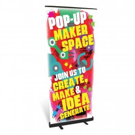 Pop up Makerspace Banner Roll Up Banner