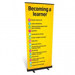 Becoming a Learner Banner Roll Up Banner
