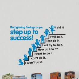 Step Up To Success Word Wall Vinyl Lettering