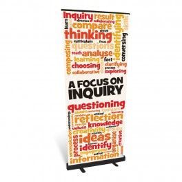Focus on Inquiry Banner Roll Up Banner