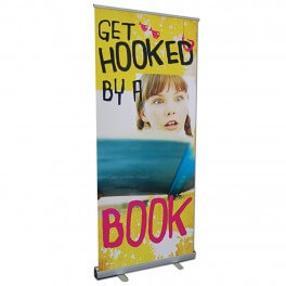 Get Hooked on a Book Roll Up Banner